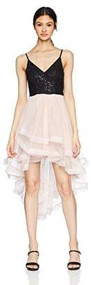 Speechless Formal Dance Or Prom Dress with High-Low Wide Ribbon Hem (Junior's)