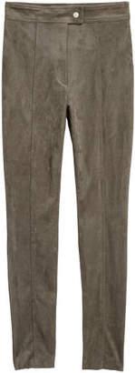 H&M Faux Suede Pants - Green