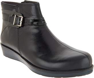 Naot Footwear Leather Ankle Bootie - Cozy