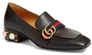 Gucci Embellished Heel Loafer
