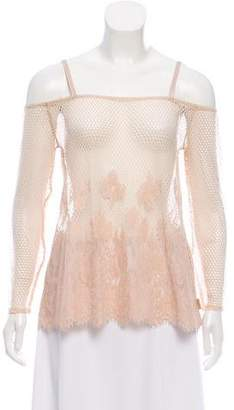 FENTY PUMA by Rihanna Off-The-Shoulder Lace-Accented Top