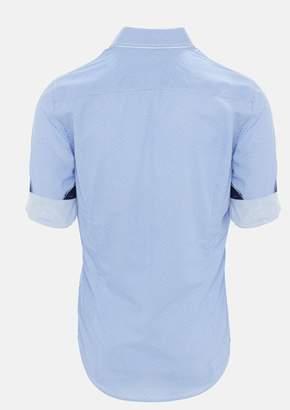 TAROCASH Blue Pepper Geo Print Shirt