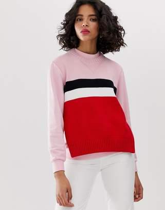 Sportmax Code stripe contrast knit sweatshirt
