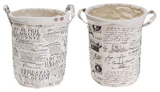 Kadell 350mm Foldable Cotton Linen Hamper Laundry Basket with Handle Bag Dirty Clothes Toy Storage Basket Bin Organizer