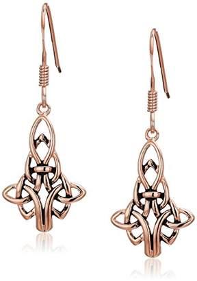Celtic 14K Gold Plated Sterling Silver Drop Earrings