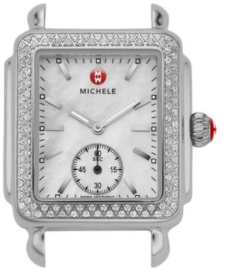 Michele Deco 16 Diamond Watch Head, 29mm x 31mm