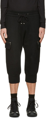 Helmut Lang Black Cropped Cargo Pants $310 thestylecure.com