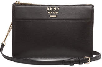 DKNY Ava Leather Top-Zip Crossbody