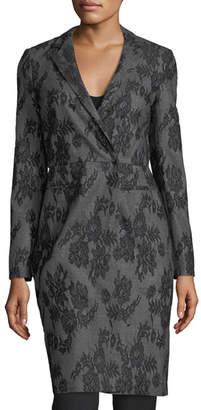 Giambattista Valli Lace-Embroidered Wrap Coat