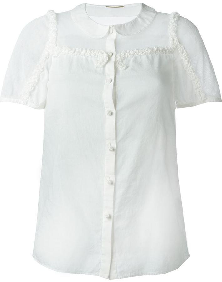 Saint LaurentSaint Laurent ruffle trim blouse