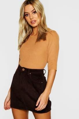 boohoo Petite Cord Mini Skirt