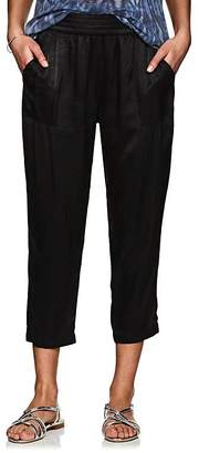 Raquel Allegra Women's Trapunto Satin Pants