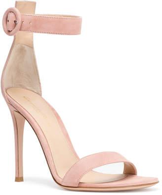 Gianvito Rossi Portofino 105 blush suede sandals