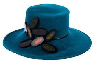 Philip Treacy Wool Embellished Hat