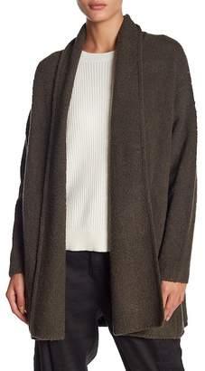 Vince Textured Shawl Wool Blend Cardigan