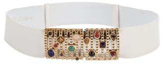 Judith Leiber Embellished Karung Belt $150 thestylecure.com