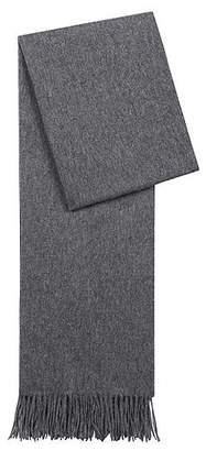 HUGO BOSS Lightweight scarf in brushed wool