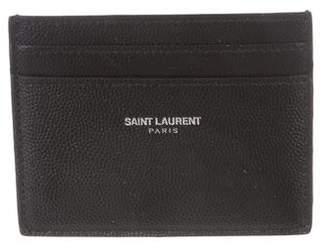 Saint Laurent 2018 Calfskin Card Case