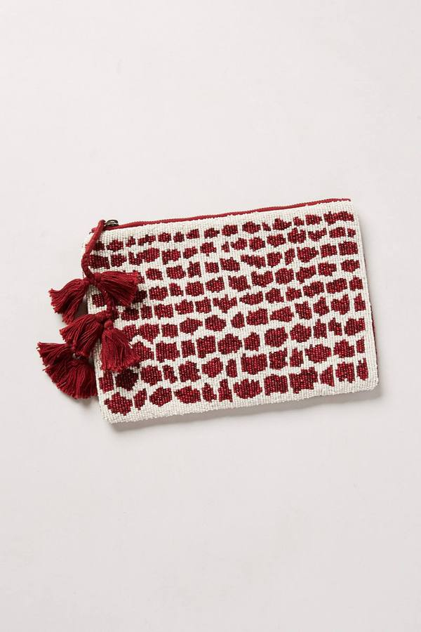 Anthropologie Jasper & Jeera Spotted Shimmer Pouch