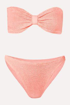 Hunza G Jean Seersucker Bandeau Bikini - Pink