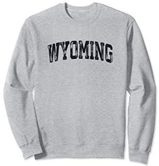 Vintage Wyoming Crewneck Sweatshirt College Style Sports USA