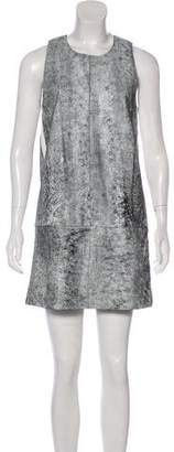 3.1 Phillip Lim Leather Printed Dress