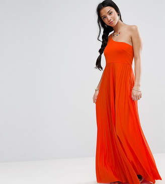 Asos One Shoulder Pleated Maxi Dress