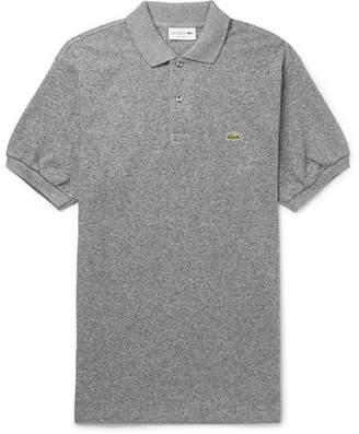 Lacoste Mélange Cotton-Piqué Polo Shirt