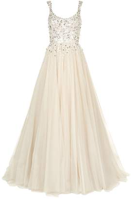 Jenny Packham Adara Embellished Bodice Tulle Gown