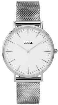 Cluse La Bohème CL18105 Silvertone Mesh Bracelet Analog Watch