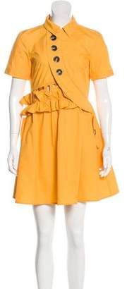 Self-Portrait Collared Mini Dress