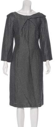 Giorgio Armani Long Sleeve Midi Dress