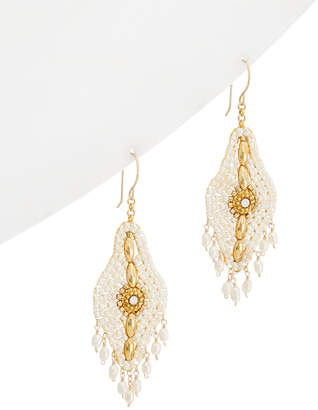 Miguel Ases 18K Pearl & Crystal Drop Earrings