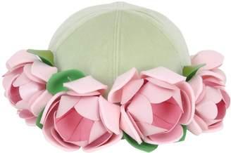 Roses Applique' On Baseball Hat