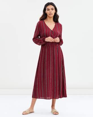 Cotton On Woven Kaylee Long Sleeve Midi Dress