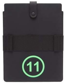 Maison Margiela No.11 Leather Ipad Case - Mens - Black