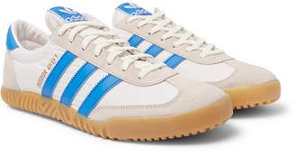 adidas Indoor Kreft Spezial Leather-Trimmed Shell and Suede Sneakers