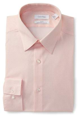 Calvin Klein Dot Slim Fit Dress Shirt
