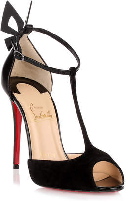 Christian Louboutin Aribak 100 black suede sandal