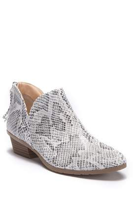 Kenneth Cole Reaction Side Way Snakeskin Embossed Ankle Bootie