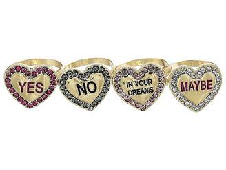 Betsey Johnson Conversation Heart Ring Set Ring