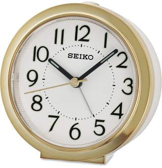 Seiko White & Gold-Tone Alarm Clock