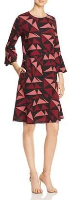 Lafayette 148 New York Billie Geometric-Print Dress