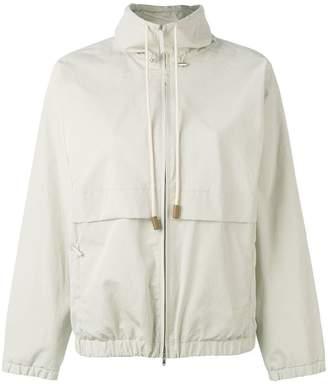 Fabiana Filippi drawstring zipped jacket