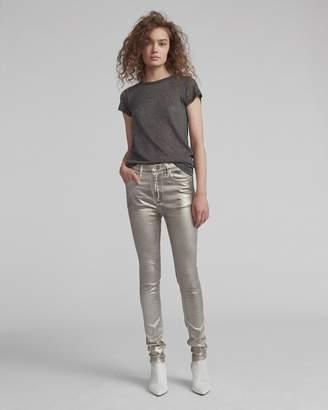 Rag & Bone High rise skinny coated jean