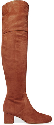 Sam Edelman - Elina Suede Over-the-knee Boots - Tan $275 thestylecure.com