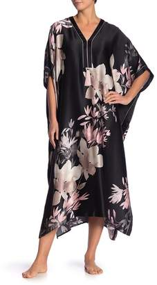 Josie Natori Floral Silk Caftan