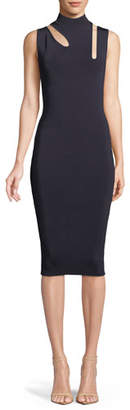 Bailey 44 Debate Cutout Mock-Neck Midi Dress