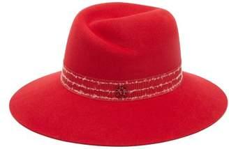 Maison Michel Virginie Showerproof Felt Hat - Womens - Red