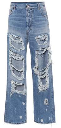 Unravel Ripped high-waisted jeans
